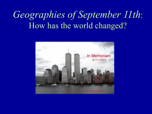 Geographies of September 11th : How has the world changed?
