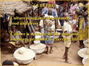 CULTURE Culture is not just about dances, food and dress.