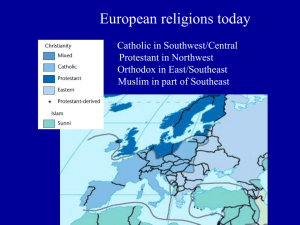 European religions today