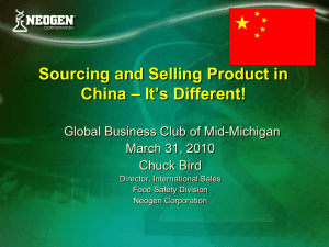 Sourcing and Selling Product in – It's Different! China