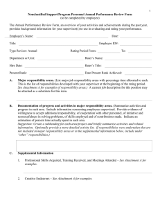 Nonclassified Support/Program Personnel Annual Performance Review Form