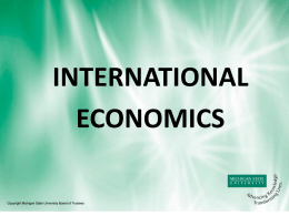 international economics final Economics – final exam review unit three-define the following (use notes and chapter 18): specialization -a nation should produce and export a limited assortment of goods for which it is.