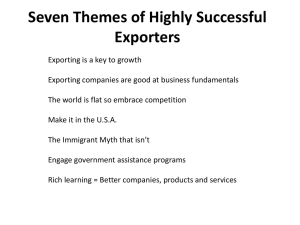 Seven Themes of Highly Successful Exporters