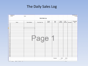 The Daily Sales Log