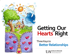 Getting  Our Right Hearts Better Relationships