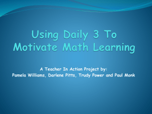 A Teacher In Action Project by: