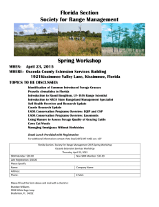 Florida Section Society for Range Management Spring Workshop