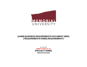 [AABB] BUSINESS REQUIREMENTS DOCUMENT