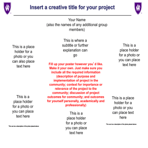 Insert a creative title for your project