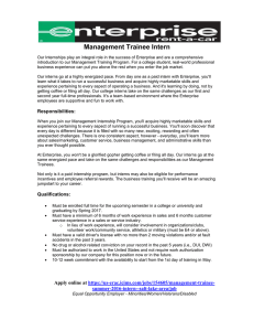 Management Trainee Intern