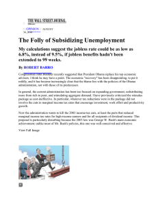 The Folly of Subsidizing Unemployment