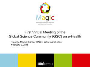 First Virtual Meeting of the Global Science Community (GSC) on e-Health