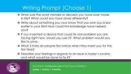 Writing Prompt (Choose 1)