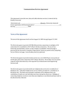 Communications Services Agreement