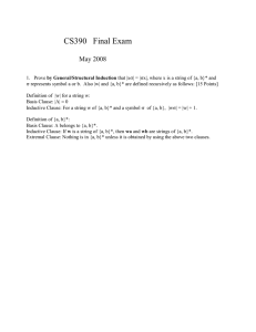 CS390   Final Exam  May 2008