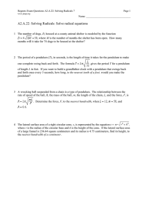 A2.A.22: Solving Radicals: Solve radical equations
