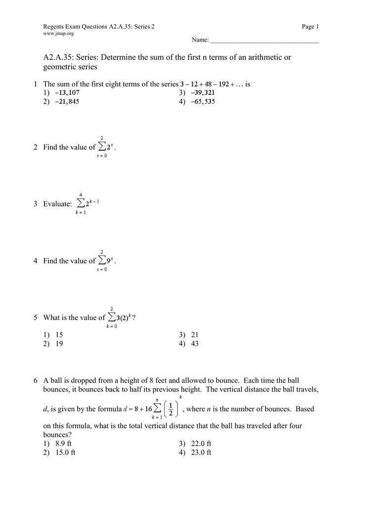 sum of geometric terms