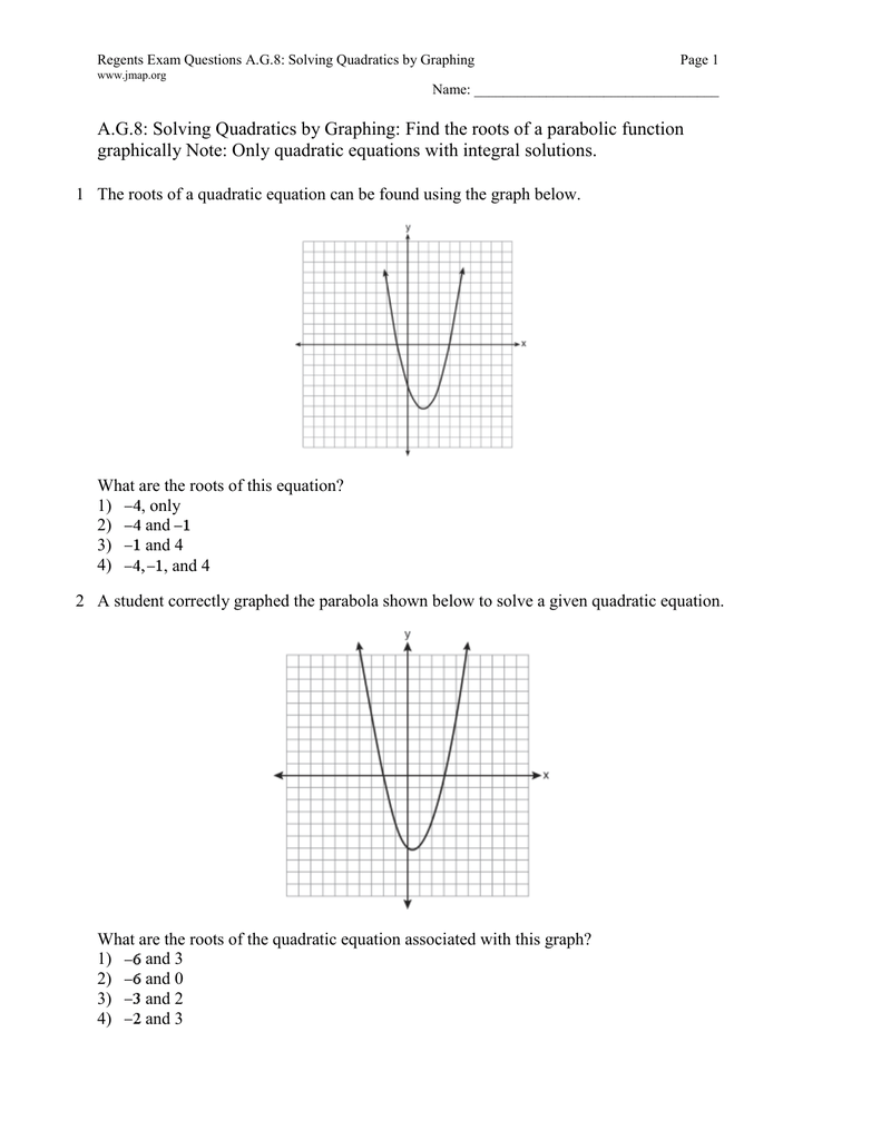 worksheet Parabola Worksheet fine solve quadratic equations by graphing worksheet ideas graphically tessshebaylo