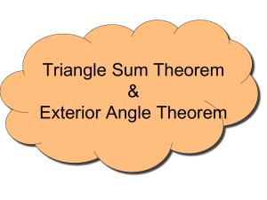 Triangle Sum Theorem & Exterior Angle Theorem
