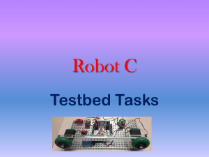 Robot C Testbed Tasks
