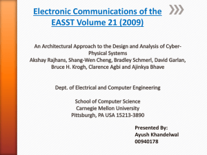 Electronic Communications of the EASST Volume 21 (2009) Presented By: Ayush Khandelwal