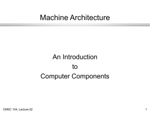 Machine Architecture An Introduction to Computer Components