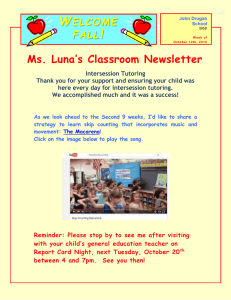 W ! Ms. Luna's Classroom Newsletter ELCOME