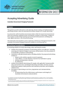 Accepting Advertising Guide Purpose Australian Government Charging Framework