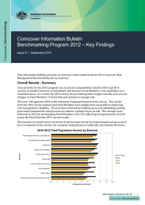 Comcover Information Bulletin – Key Findings Benchmarking Program 2012 – September 2012