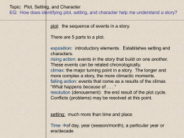 Topic:  Plot, Setting, and Character