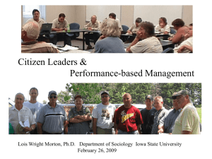 Citizen Leaders & Performance-based Management February 26, 2009