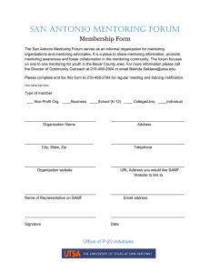 San Antonio Mentoring Forum Membership Form