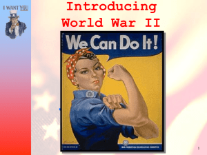 The War in the United States Introducing World War II