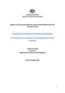 Laying the foundations for future prosperity: spending