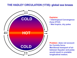 COLD HOT THE HADLEY CIRCULATION (1735): global sea breeze