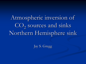 Atmospheric inversion of CO sources and sinks Northern Hemisphere sink