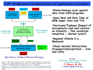 WRF Modifications (Goddard Suite) and Applications at Goddard