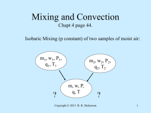Mixing and Convection