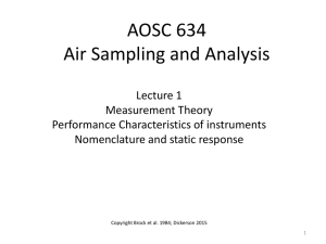 AOSC 634 Air Sampling and Analysis