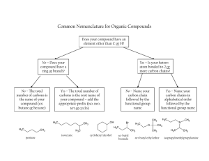Common Nomenclature for Organic Compounds