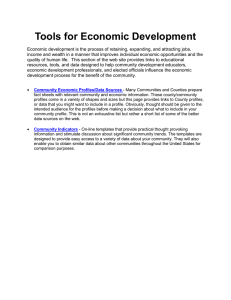 Tools for Economic Development