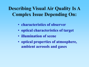Describing Visual Air Quality Is A Complex Issue Depending On: