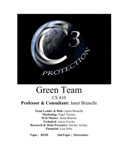 Green Team CS 410 Professor & Consultant: