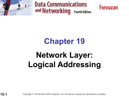 Chapter 19 Network Layer: Logical Addressing 19.1