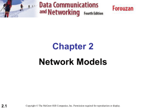 Chapter 2 Network Models 2.1