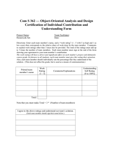 Com S 362 — Object-Oriented Analysis and Design Understanding Form