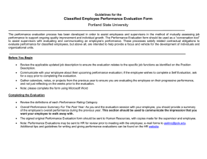 Classified Employee Performance Evaluation Form Portland State University  Guidelines for the