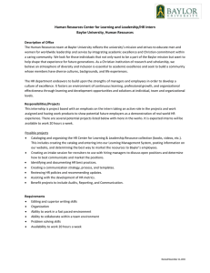 Human Resources Center for Learning and Leadership/HR Intern