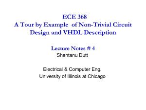 ECE 368 A Tour by Example  of Non-Trivial Circuit