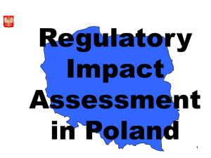 Regulatory Impact Assessment in Poland